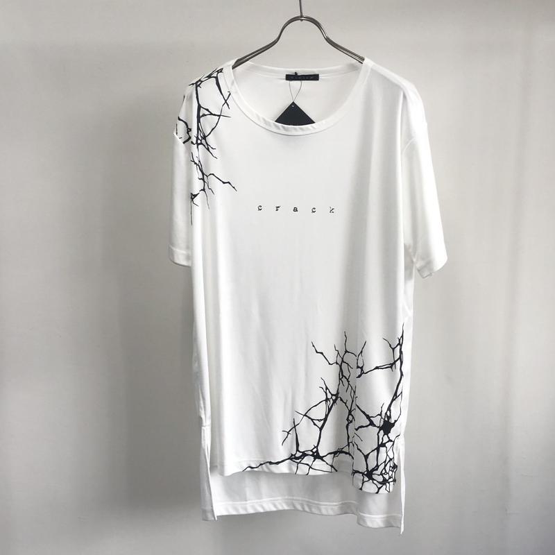 【Sample】クラックロゴプリントカットソー  / ホワイト