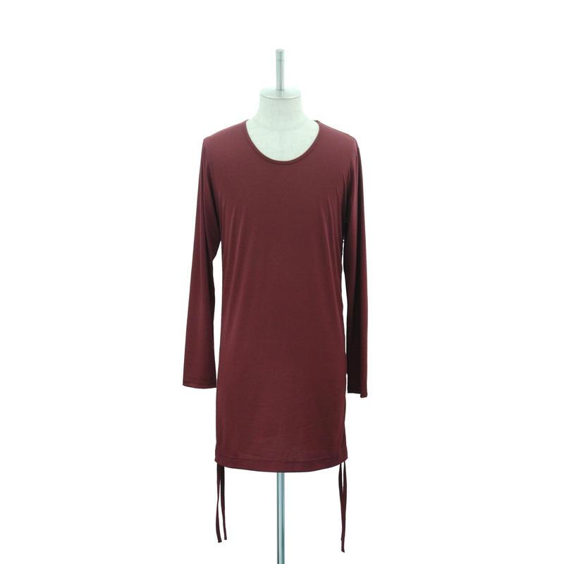 Side Shirring L/S Cut&Sewn