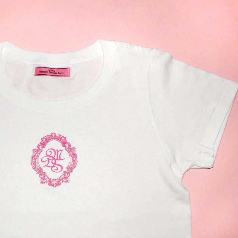 M.D.S T-shirt(White x Pink)タグなし