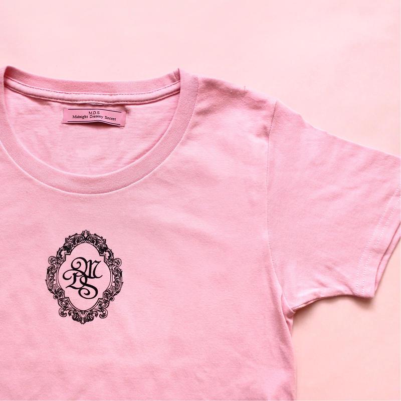 M.D.S T-shirt(Pink x Black)