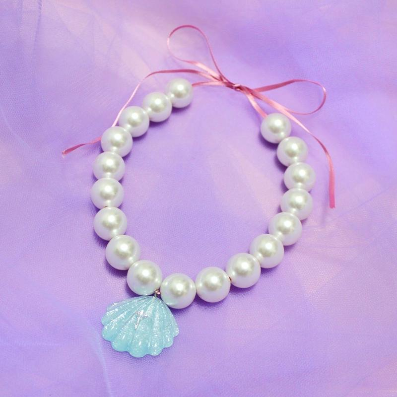 マーメイドパールネックレス(ホワイト)/ Mermaid Pearl Necklace(White)