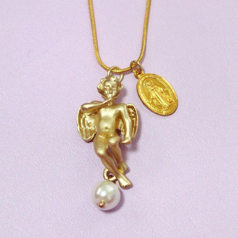 エンジェルメダイネックレス/ Angel Medal Necklace