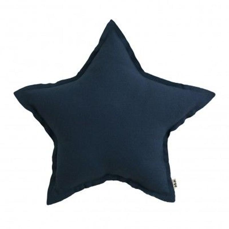 NUMERO74  Star cushion-Navy blue