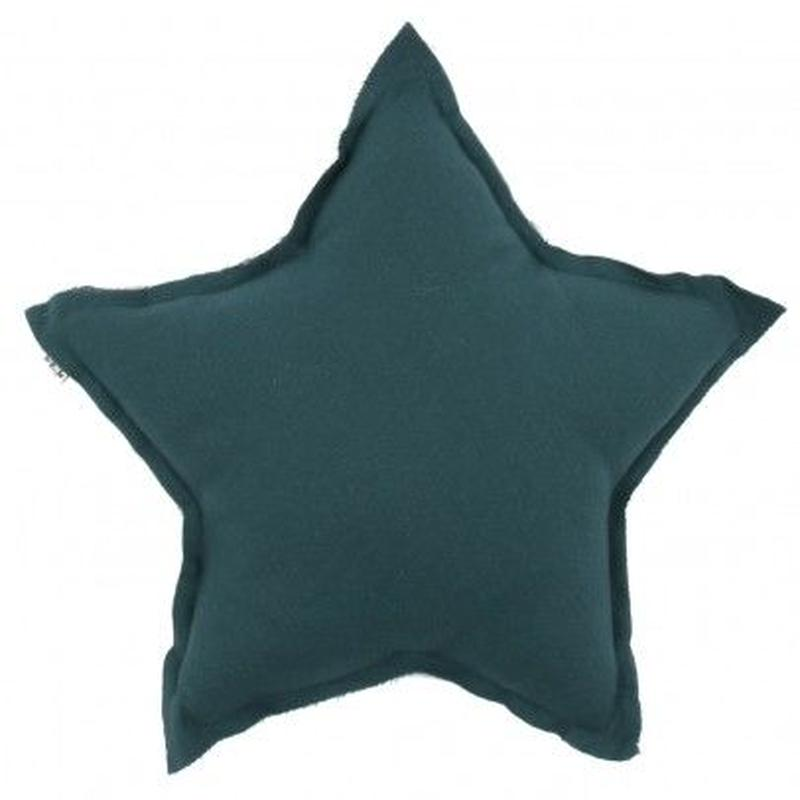 NUMERO74  Star cushion-Petrol blue