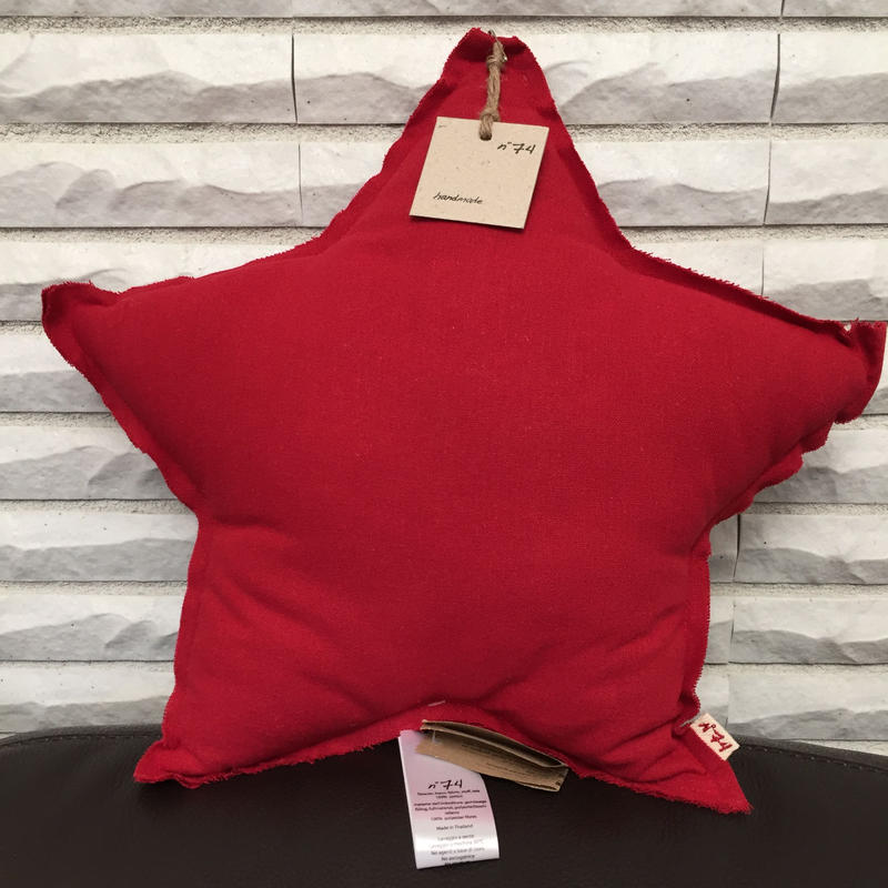 NUMERO74 Star Cushion-Ruby Red