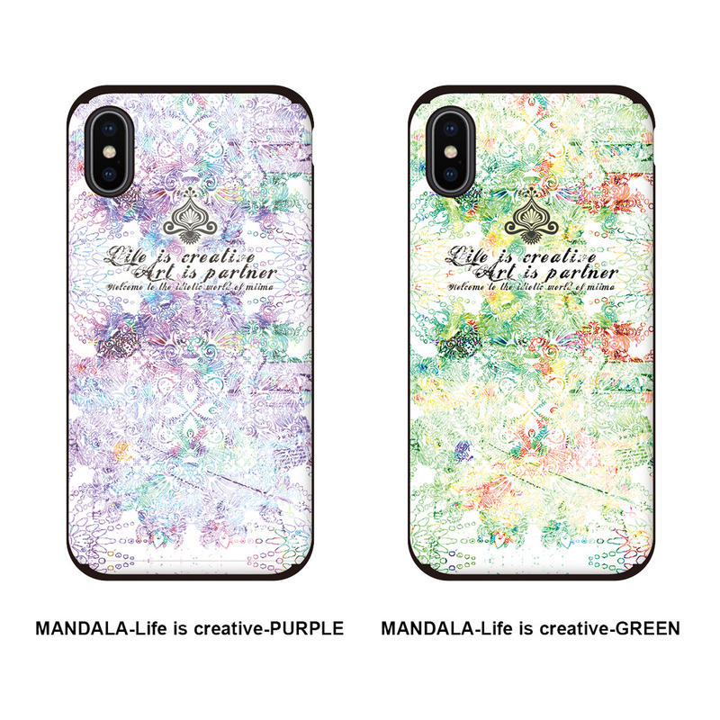 ≫  iPhoneケース★MANDALA-Life is creative-2color