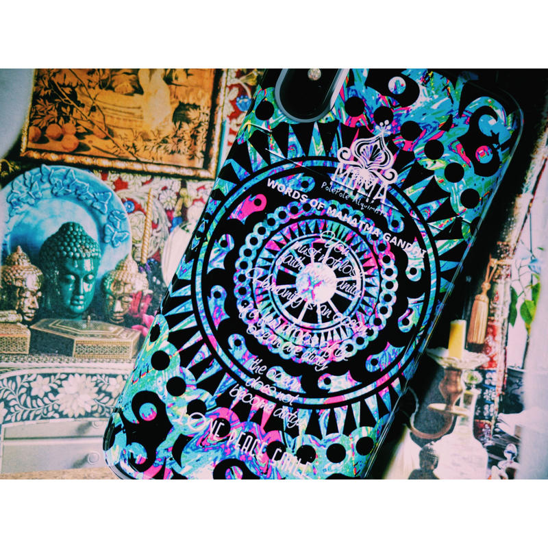 ≫  iPhoneケース★MANDALA-WORDS OF MAHATMA GANDHI-2color