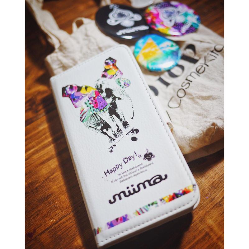 手帳型iPhone case>>>elephant sk8-2color