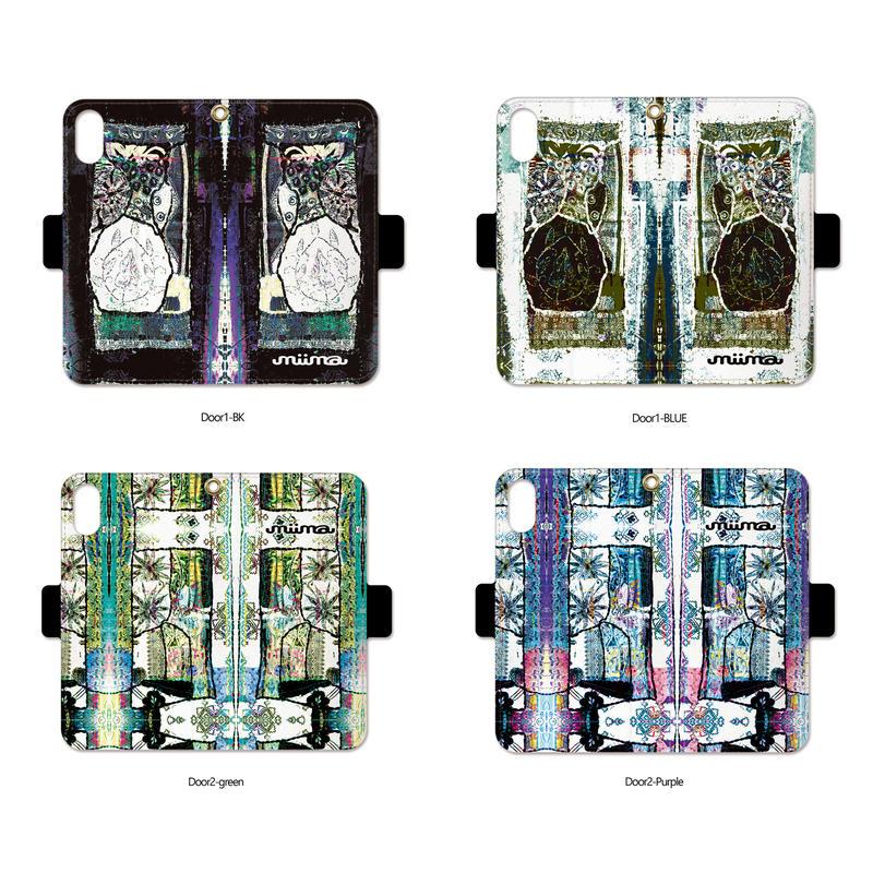 手帳型iPhone case>>>Door1-2design/Door2-2design