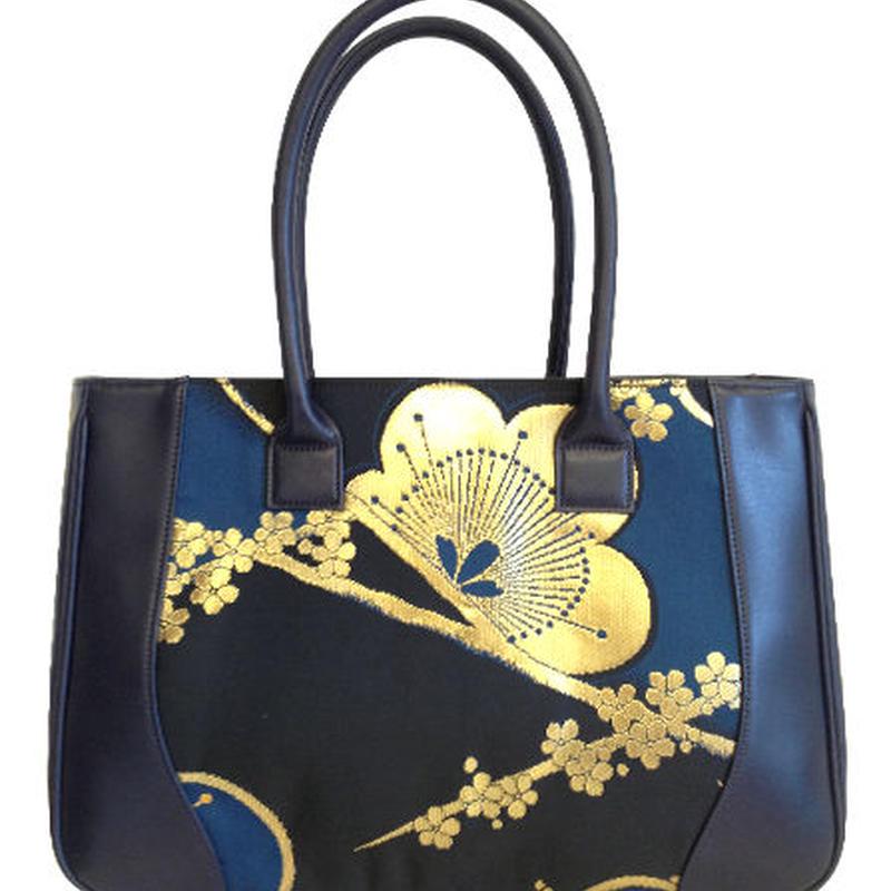 世界限定1個:人と人を繋ぐ、日本と世界を繋ぐ『西陣織バッグ【紺】』