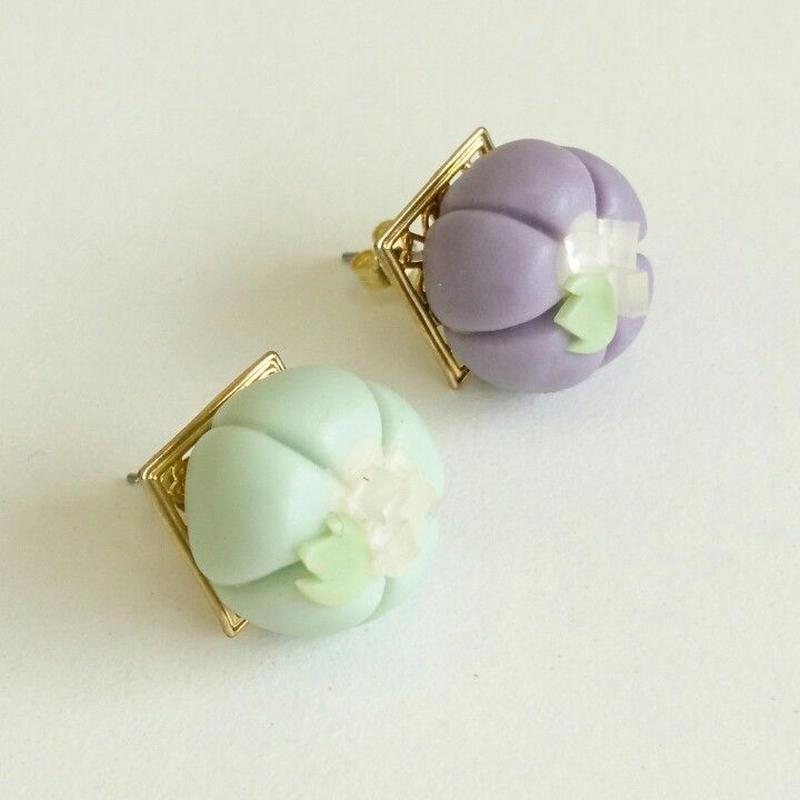 和菓子 アクセサリー ピアス 水色薄紫