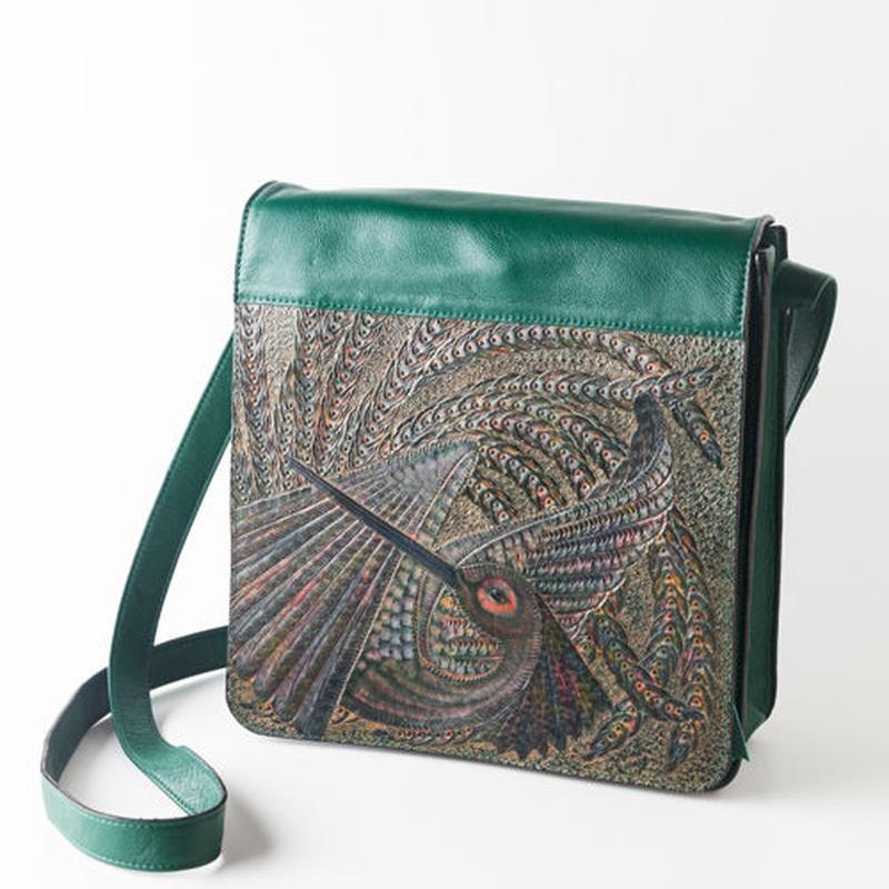 お財布バッグ 鳥 緑【02SB-BD-GN】