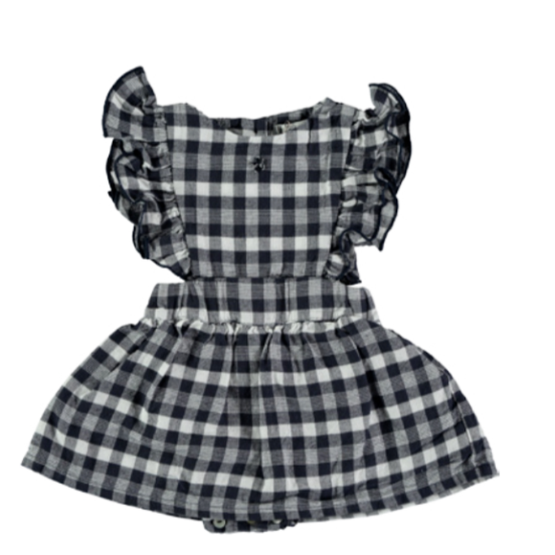 【tocoto vintage】vichy squares sleeveless gingham check dress