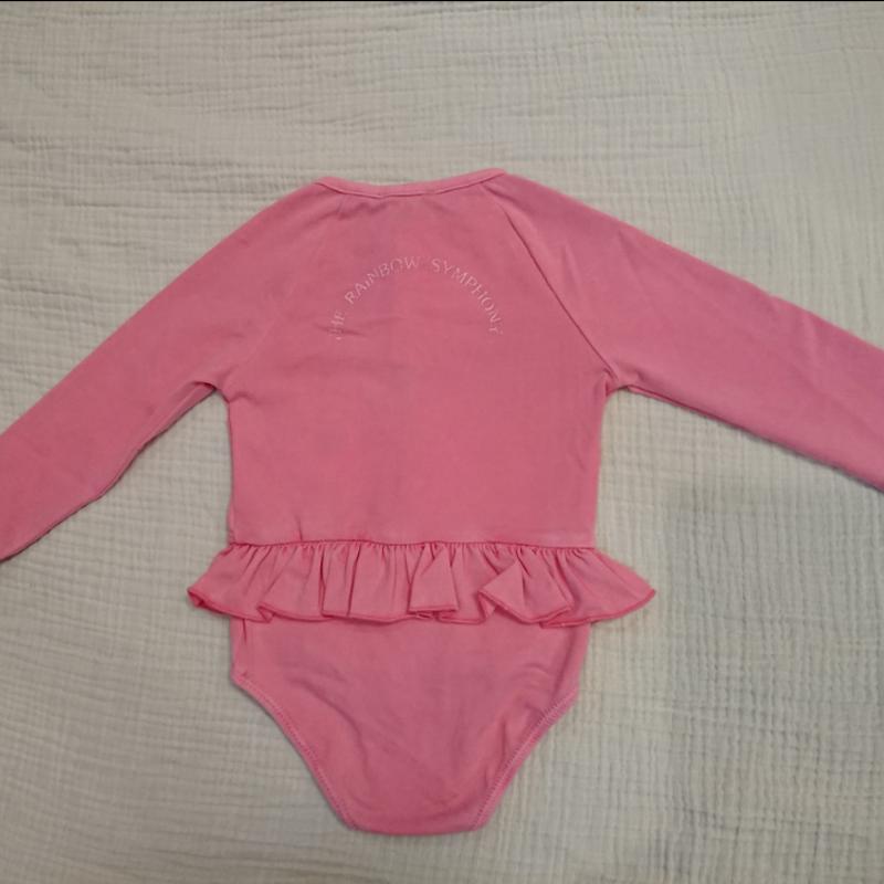【tocoto  vintage】rainbow symphony long sleeve swimsuit - pink