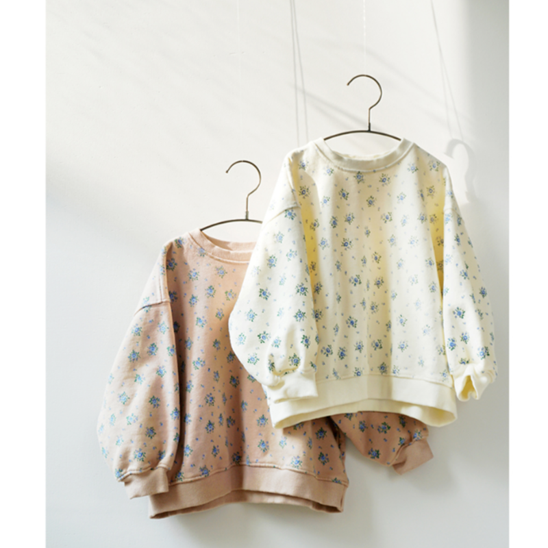 【mardi amber】flower sweatshirt