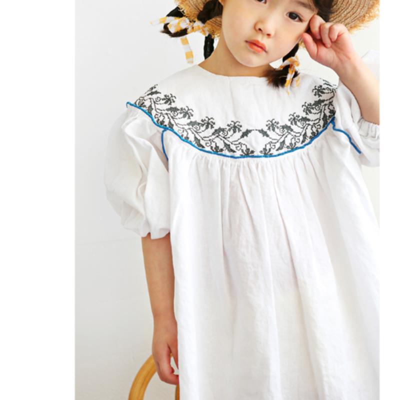 last 1【bienabien】HANNA embroidery dress