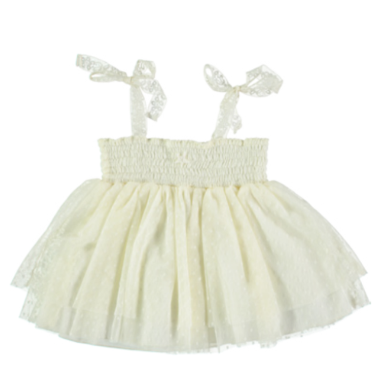 【tocoto vintage】tulle baby dress (12m,18m,2y,3y,4y)