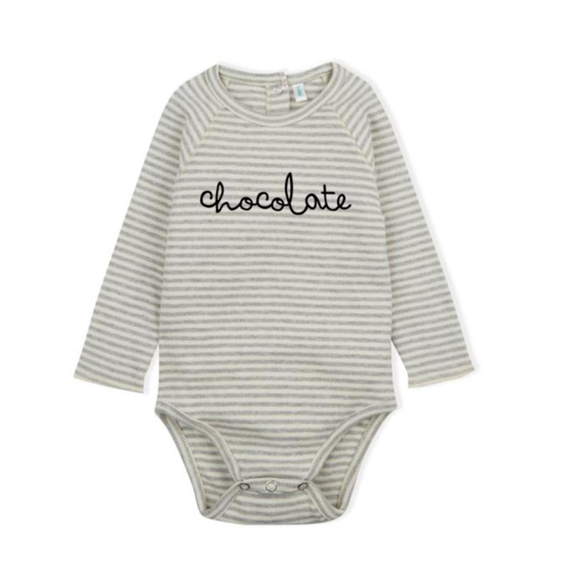 【organic zoo】 chocolate bodysuit stripy