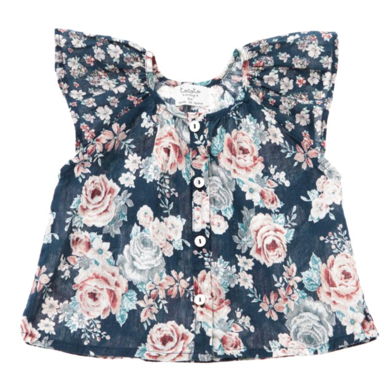 last 1【tocoto vintage】baby flowers blouse