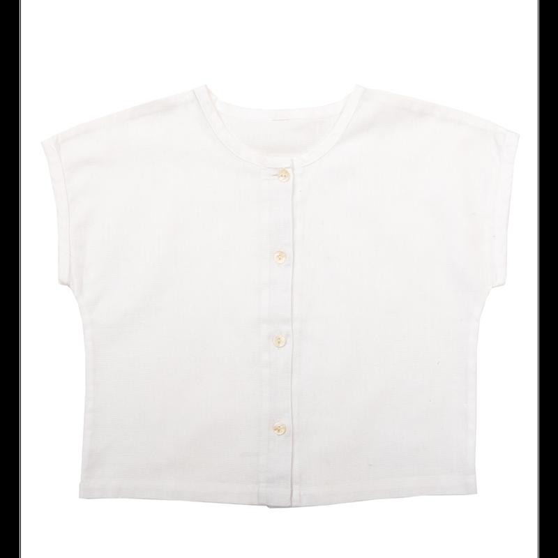 【little cotton clothes】 brighton tee white cotton linen