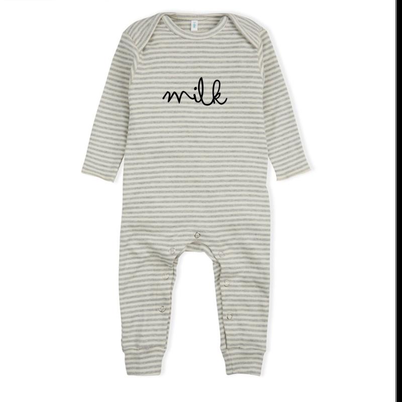 【organic zoo】Stripy MILK Playsuit