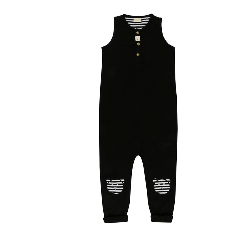 【turtledove london】Tank Dungaree- Applique Knees
