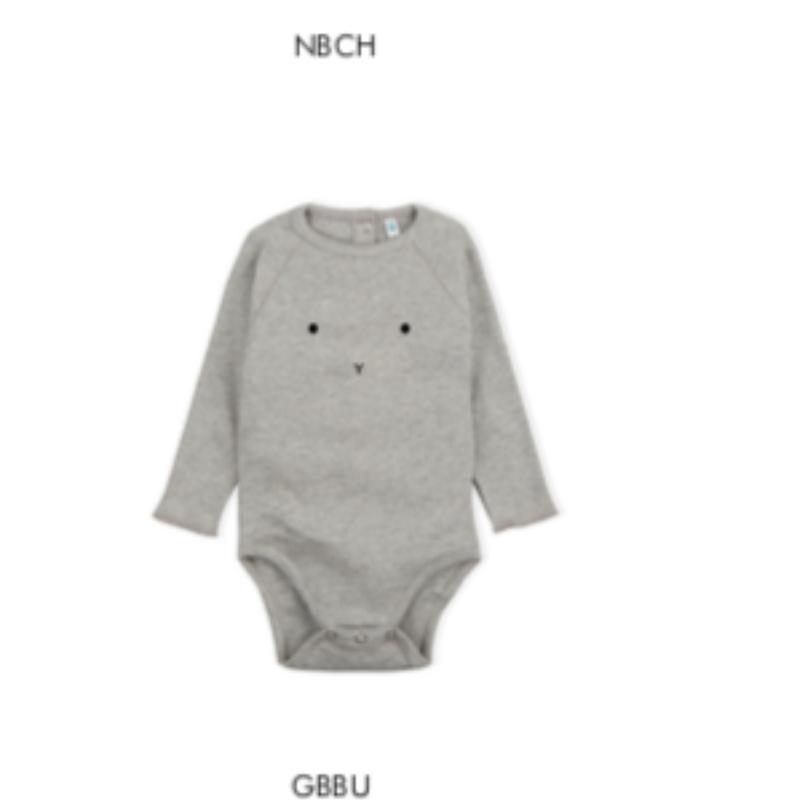 【organic zoo】bunny bodysuits gray