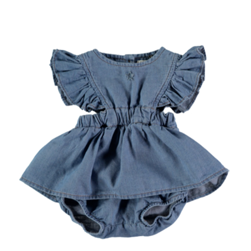 【tocoto vintage】light denim baby body dress