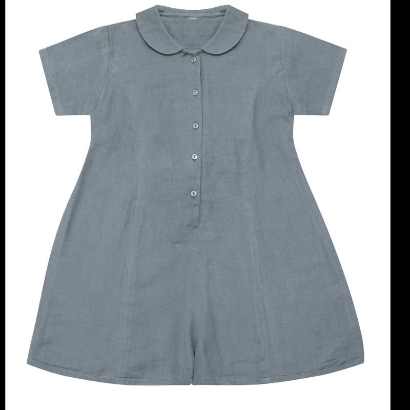 last 1【little cotton clothes】delilah romper blue muslin