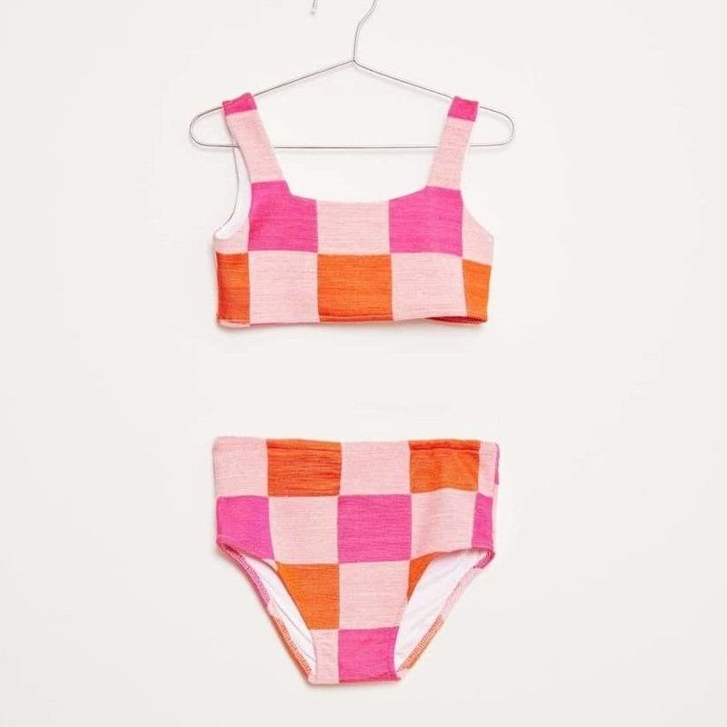 【fish&kids】こども swim wear  pink