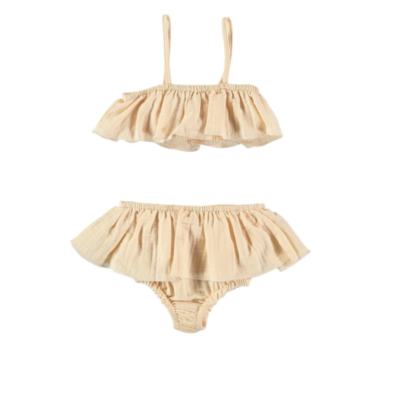 【liilu】 BIKINI kids   -2色palepink, vanilla