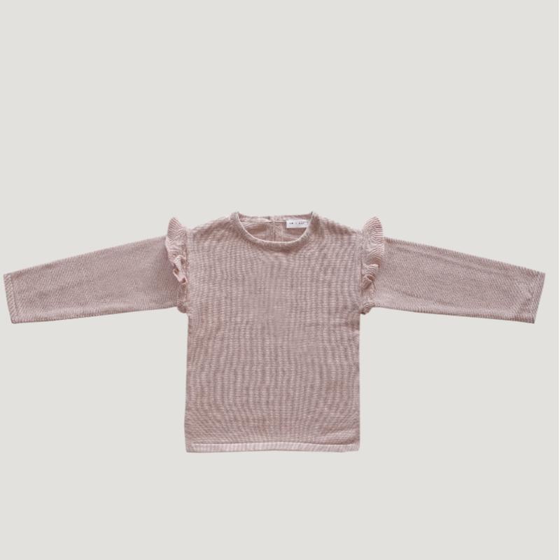 【Jamie kay】Flutter Knit - rose smoke