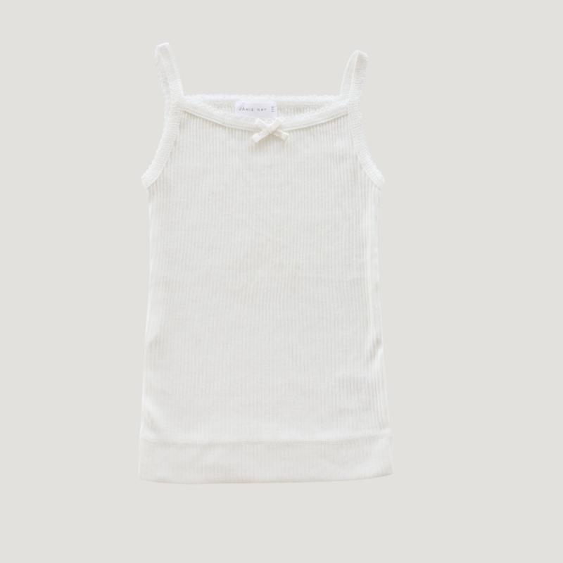 【Jamie kay】  Cotton Modal Singlet - Milk