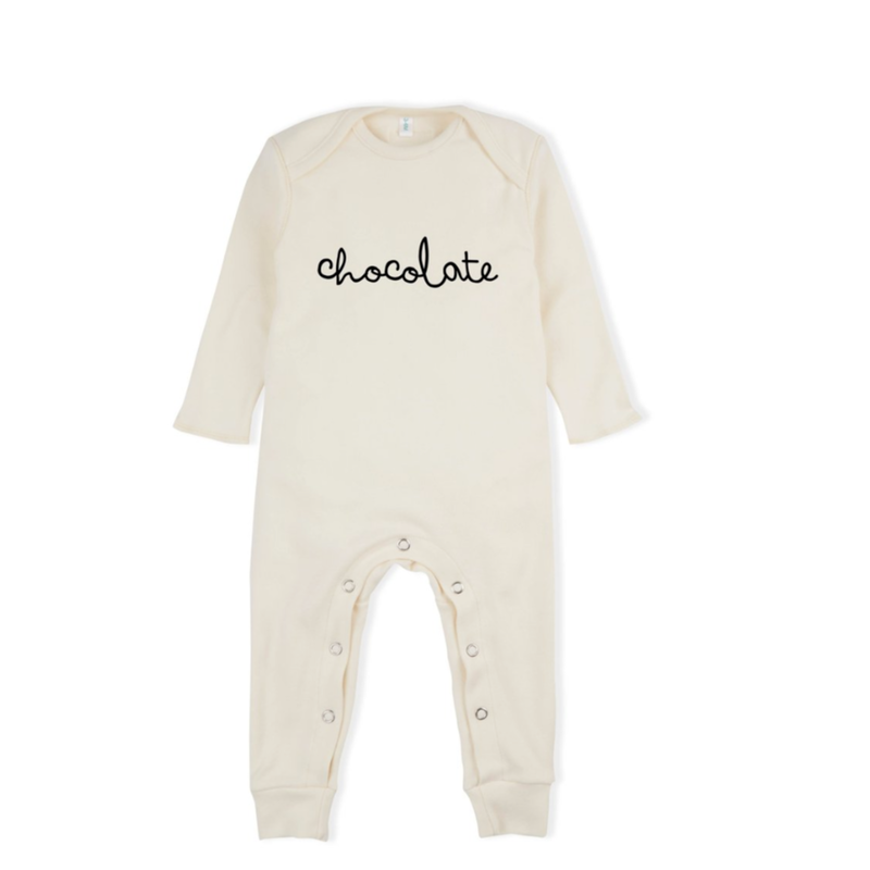 【organic zoo】chocolate playsuits natural