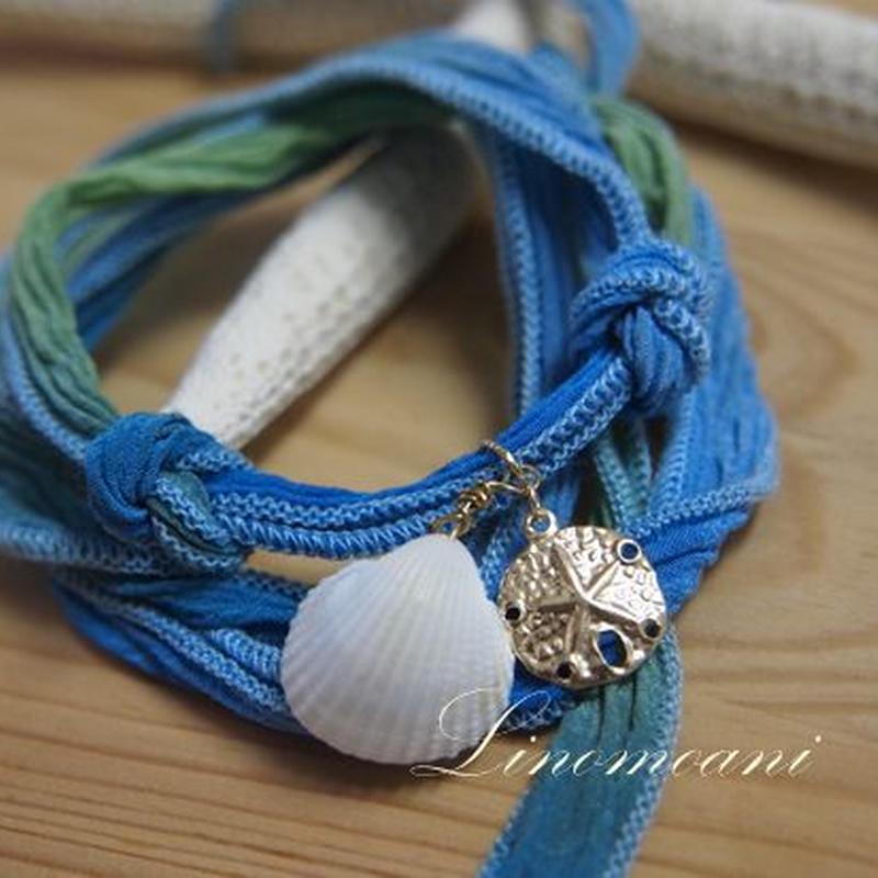 SilkRibbon Bracelet(Aquarium)