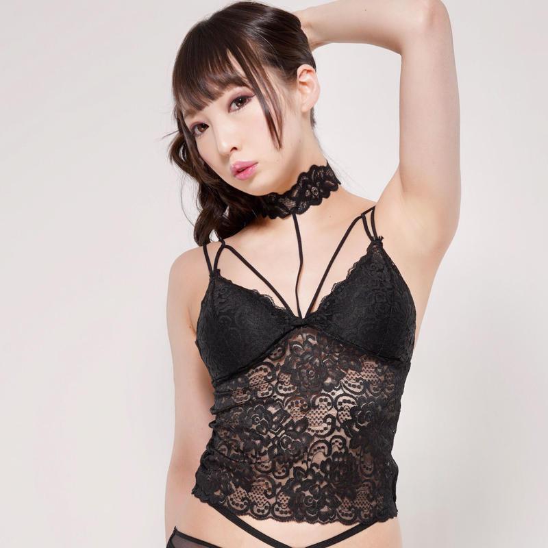 Dressy 4u/ Chokerレースブラトップ  -Black-