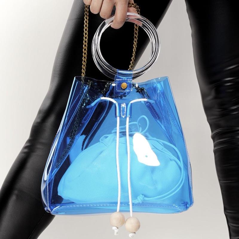 PVC/ VIVID COLORs Collection 2way Bag
