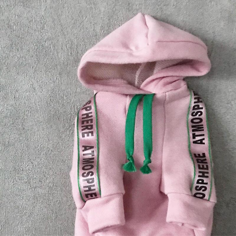 ORIGINAL sporty hoodie . [ pink   XS・S・M ]