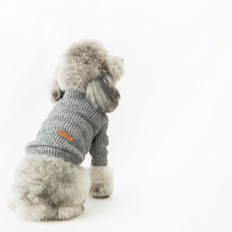 Highneck knit . [ gray ]