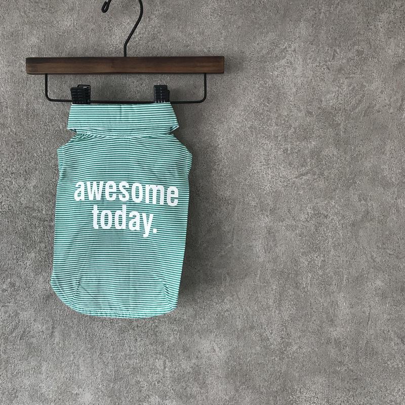 Message shirt . [ green ]