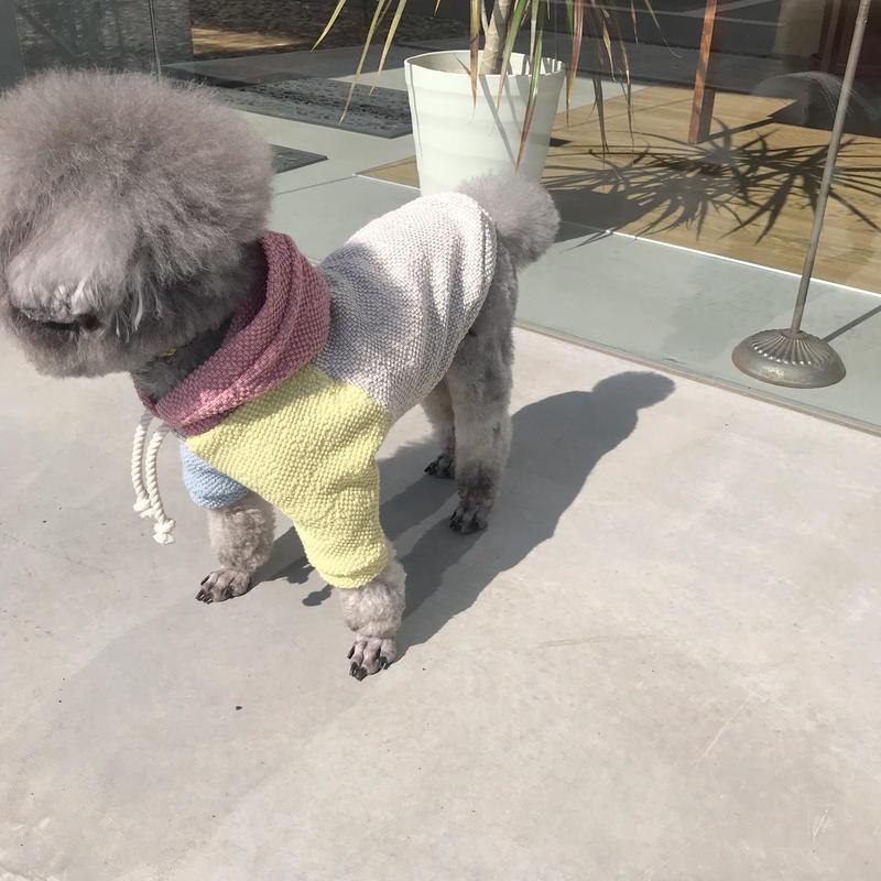 ORIGINAL waffle knit hoodie . [ L , XL ]