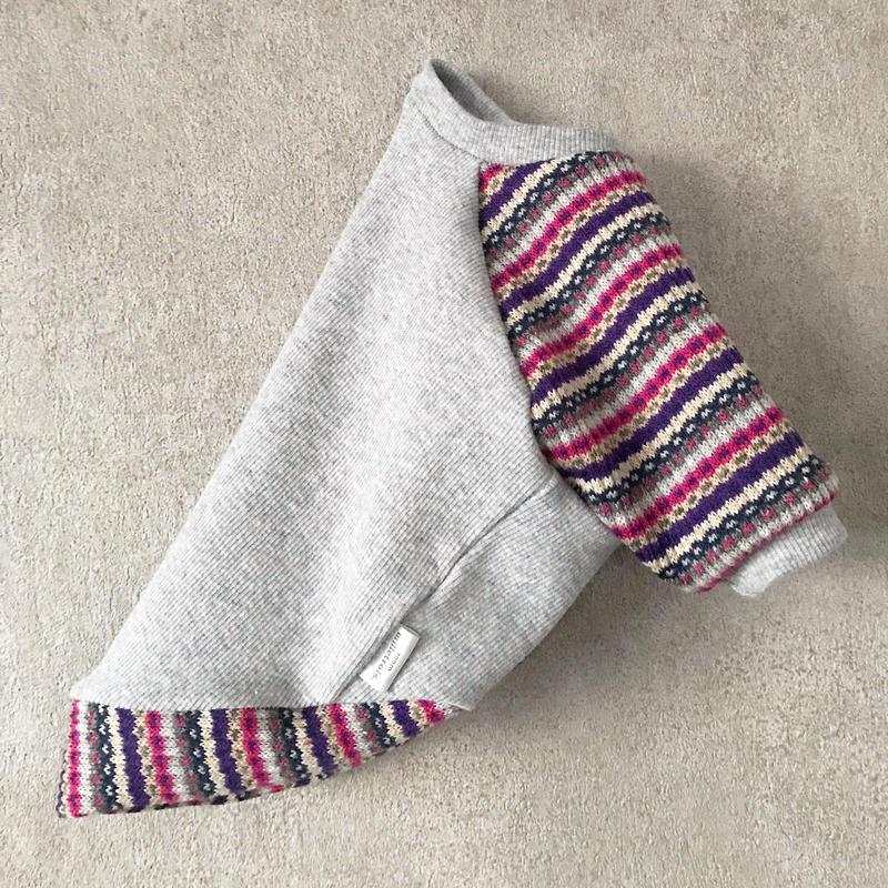 ORIGINAL mulchborder raglan knit . [ gray  L , XL ]