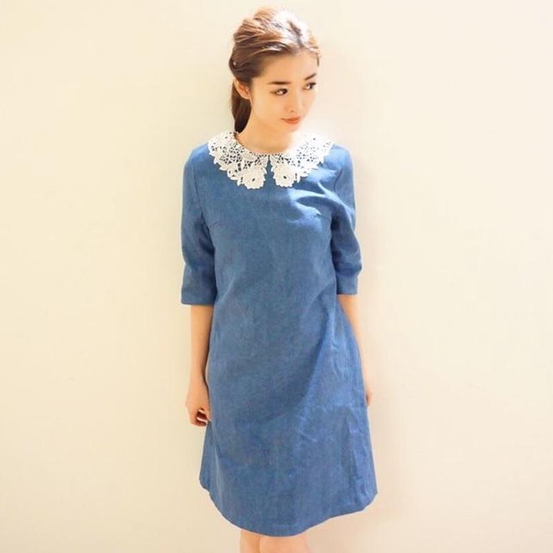 Antique Lace Collar Dress