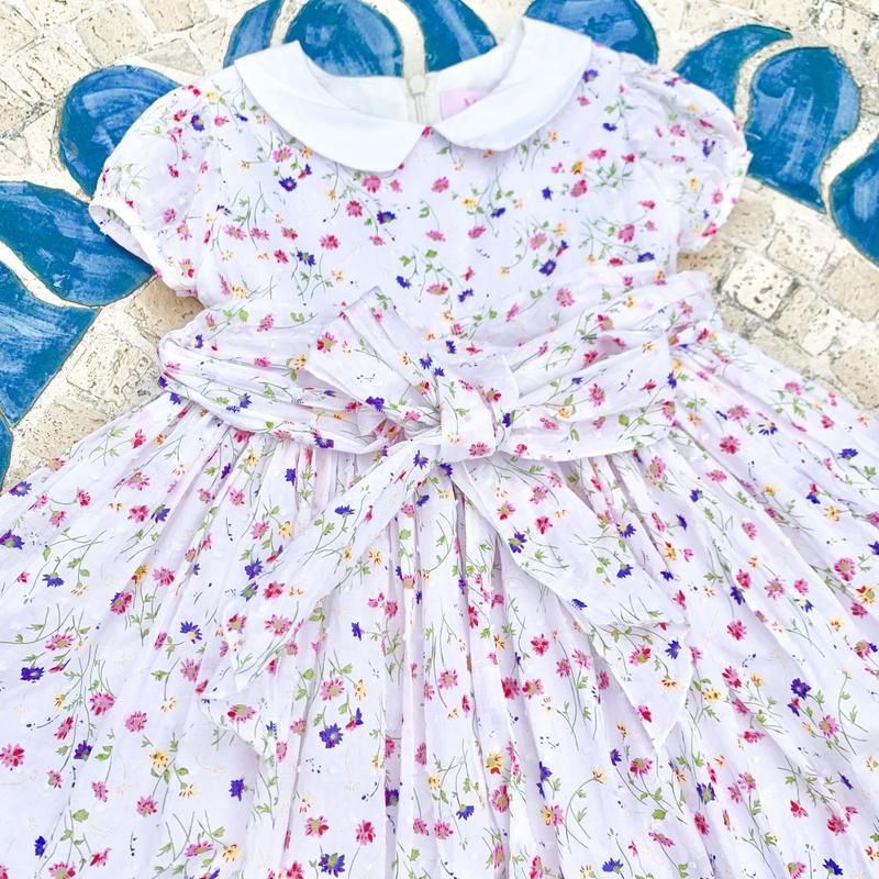 Kids English Flower Garden Dress