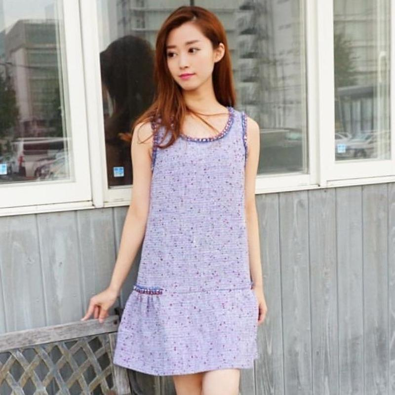 Purple Tweed Dress