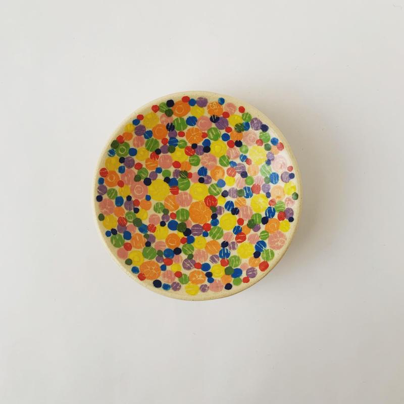 色絵付け豆皿(カラフル)