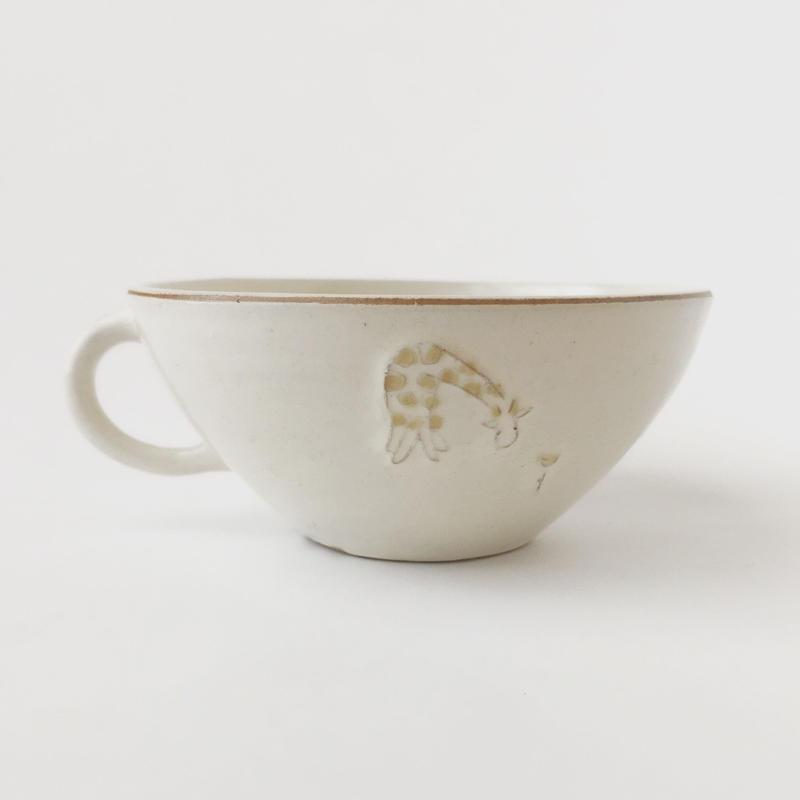 スープカップ(キリンと花)