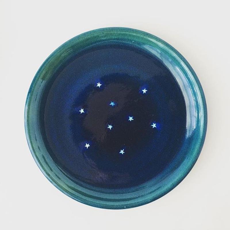 星砂 6寸皿