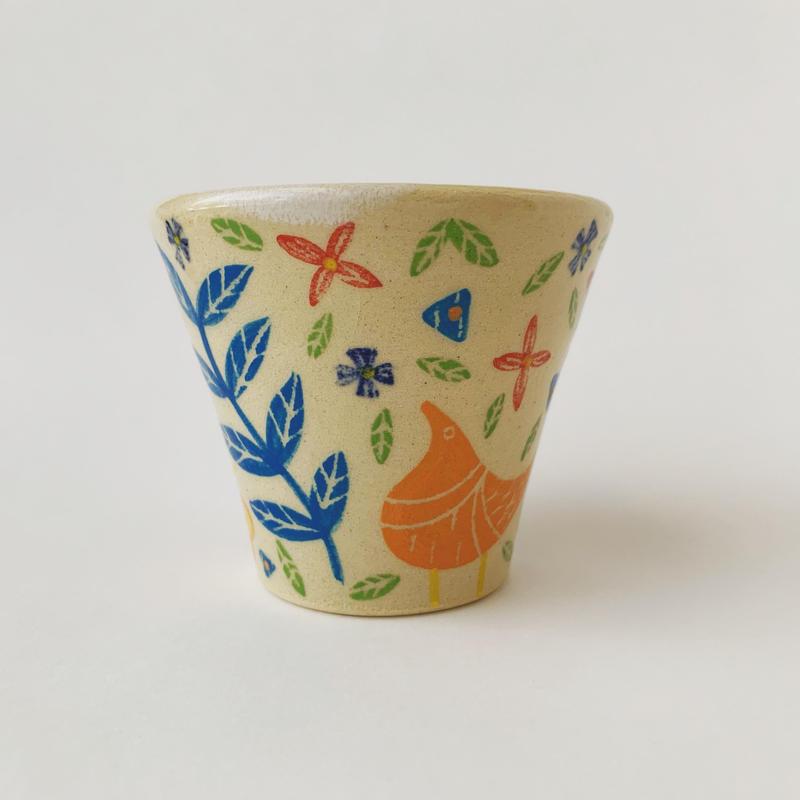 色絵付けフリーカップ(果物)