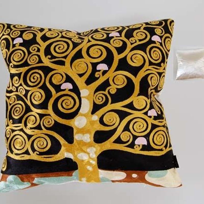 刺繍クッション(45×45) クリムト 商品番号:is1087-rc-92